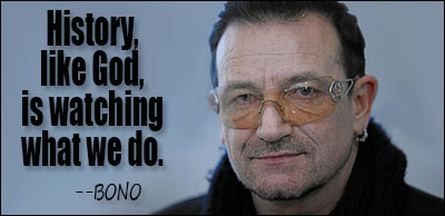 No Bono. That is not how history works. You are thinking of cameras. Also you are a tax-cheat spanner.