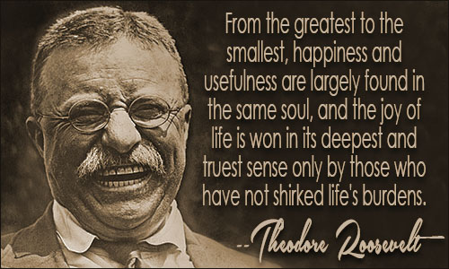 Quotes On Fdrs Death: Theodore Roosevelt Quotes