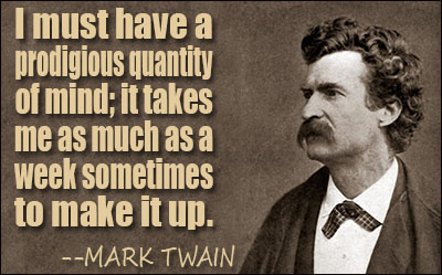 What does the Mark Twain quote