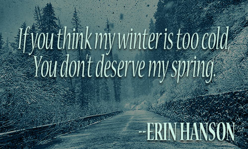 Winter Quote. «